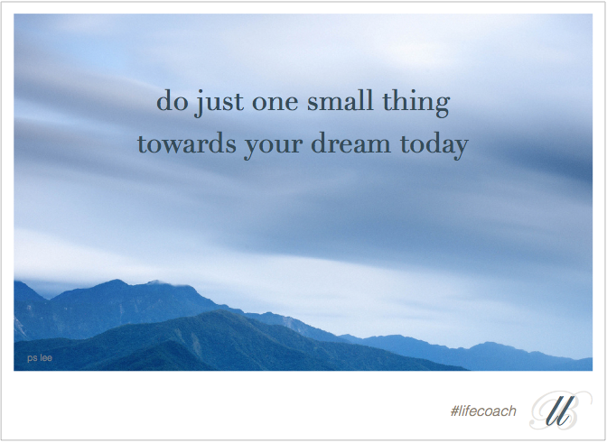 LLB Lifecoach-Do one small thing